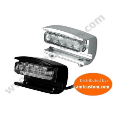 Led License plate light Chrome and Black motorcycles and Trikes