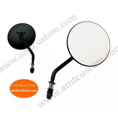 Black Round Mirrors for Harley motorcycles