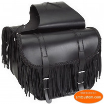Sacoches cavalières cuir à franges - moto Custom