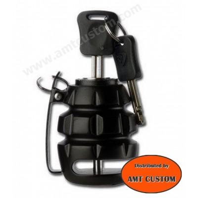 Grenade Black Disc Breack Lock Motorcycles Custom, Harley, Bobbers, trikes, ...