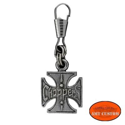 Tirette Zip Croix de Malte Choppers pour veste moto blouson