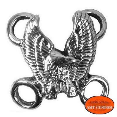 Attaches lacets Veste gilet cuir - Aigle blouson moto biker