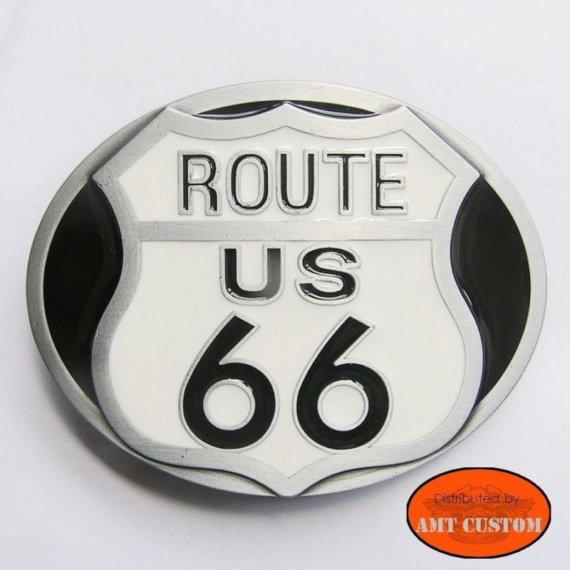Boucle Biker Ceinture Route 66 pour ceinture universelle harley custom
