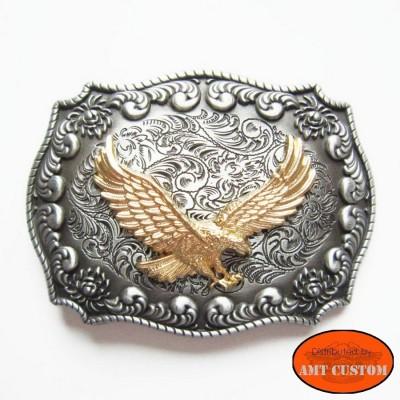 Eagle rodeo country Bikers belt Buckle custom harley trike
