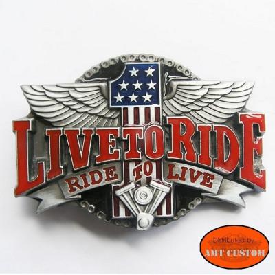 Boucle de Ceinture Biker Live To Ride N°1 Harley