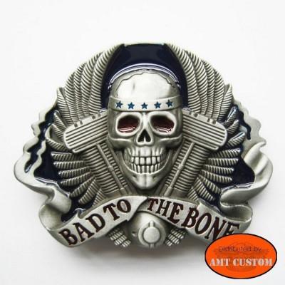Motor Vtwin Skull Belt Buckle custom harley trike