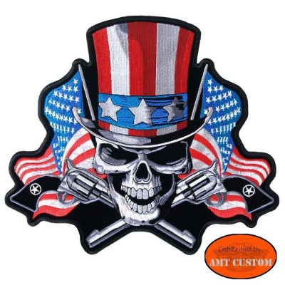 Patch Biker Patch U.S. Uncle Sam Biker jacket vest  harley custom chopper trike