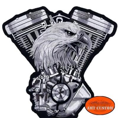 Patch écusson Biker Aigle Vtwin pour veste et blouson moto custom harley et trike