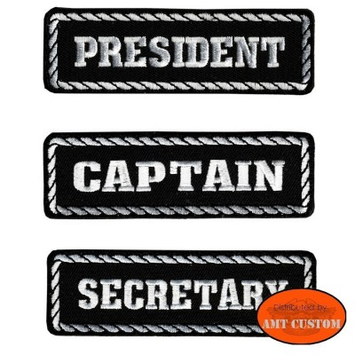 President biker Patch jackets, vest, tee-shirt harley custom chopper