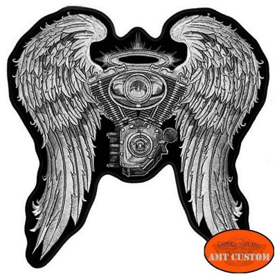 Winged Vtwin Lady Rider Patch Biker jacket vest harley custom chopper