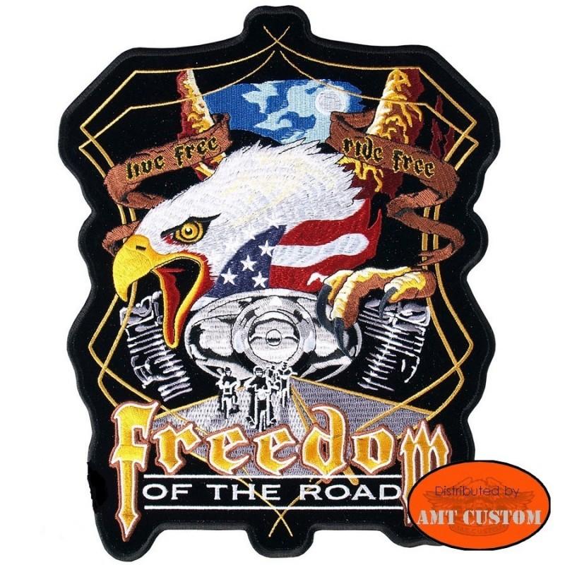 Freedom Eagle patch biker jacket vest harley custom chopper