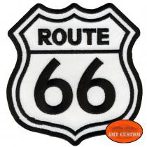 Patch écusson Biker Route 66 US pour veste et gilet harley pour veste et blouson moto custom harley et trike