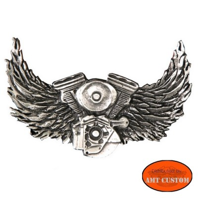 Badge VTwin motor Hells Eagle Pin biker custom kustom for vest jackets harley trike