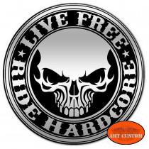 Pin's Biker Skull Free pour veste et blouson moto sacoche custom harley et trike
