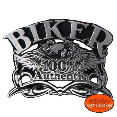 Pin's 100% Biker Aigle pour veste et blouson moto sacoche custom harley et trike