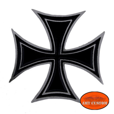 Badge black Iron Cross biker Pin custom kustom for vest jackets harley trike
