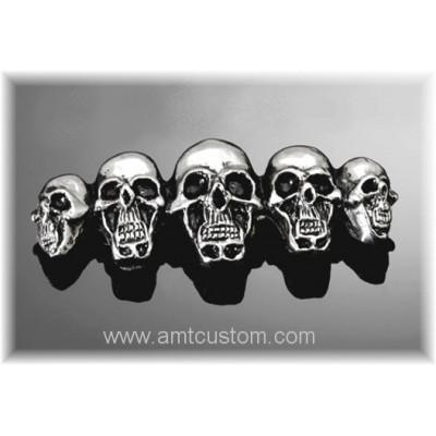 Skulls bagde Self-adhesive metal emblem