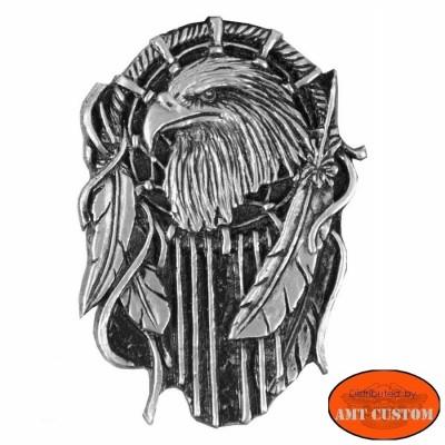 Badge pin's eagle dream catcher custom kustom for vest jackets harley trike