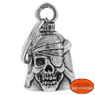 Clochette Skull pirate porte-bonheur moto Guardian Bell harley custom chopper
