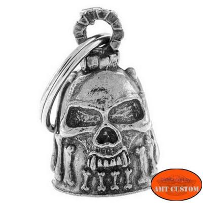 Clochette Skull tête de mort Os porte-bonheur moto Guardian Bell