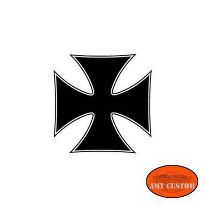 "Sticker casque moto ""Croix de malte"""