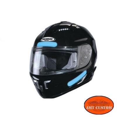 Sticker casque moto rétro-réfléchissant HD Harley chopper custom