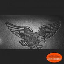 Leather wallet Biker Eagle Harley detail view custom
