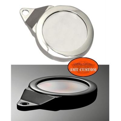 Support vignette Chrome ou noir étanche aluminium LUXE