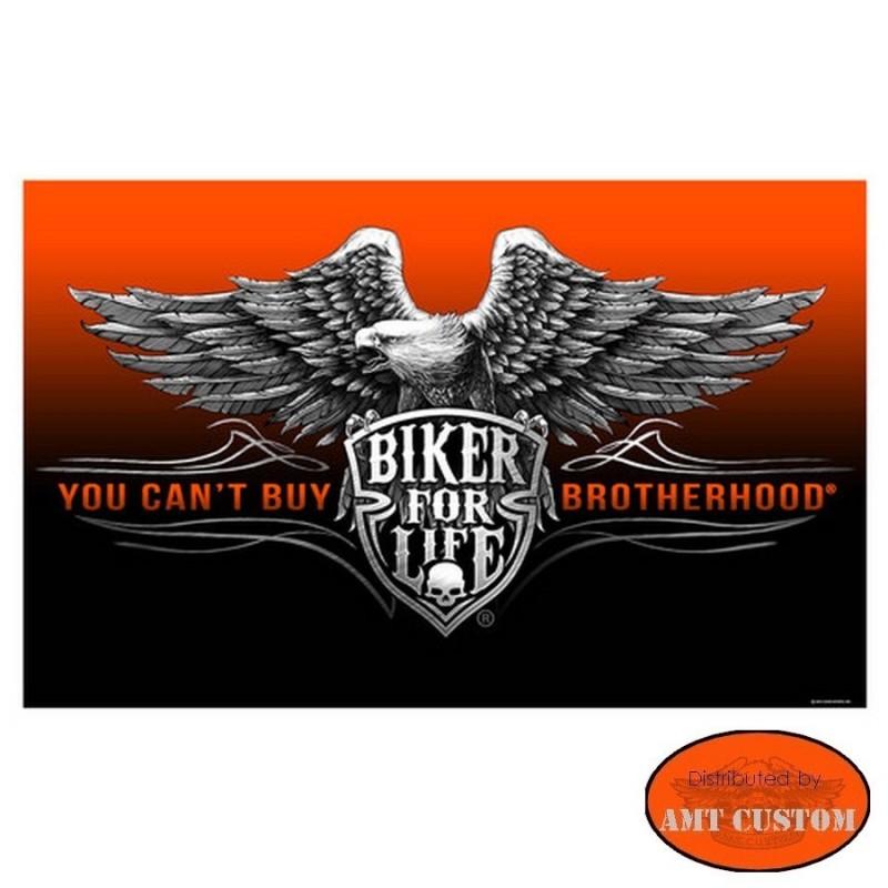 Drapeau Biker Aigle Biker for life HD Harley custom chopper moto