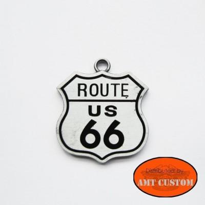 Pendentif collier Biker Route 66 unisexe moto custom accessoire biker