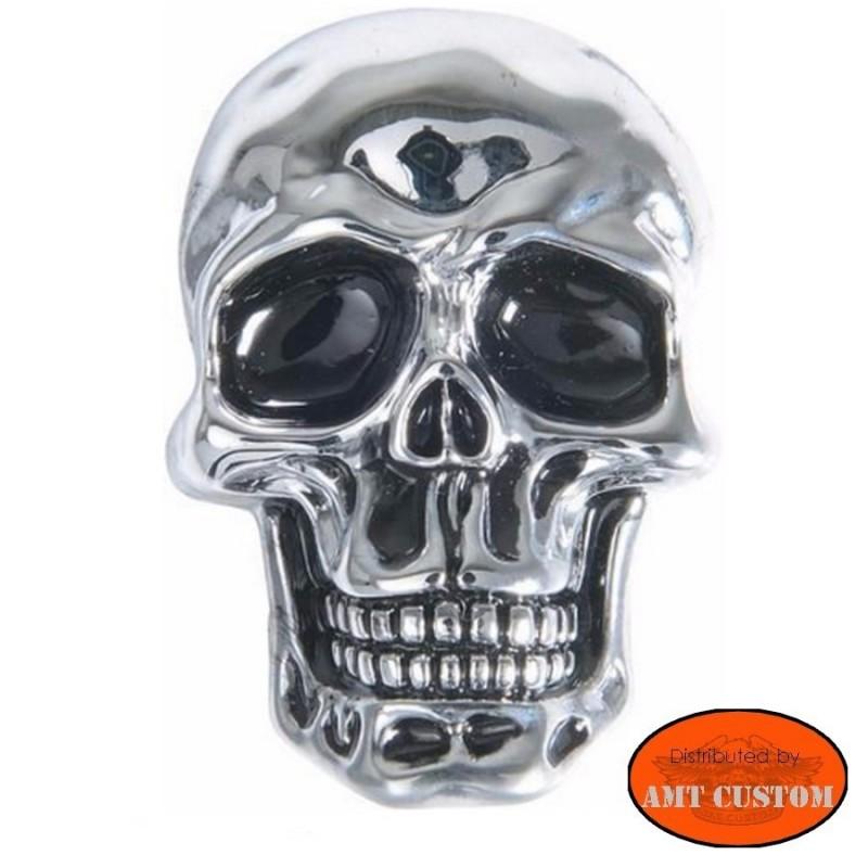 Emblème Skull custom ornement moto custom trike tête de mort HD Harley custom chopper