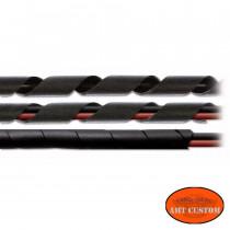 Gaine spirale noire Universelle pour cables moto.