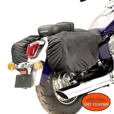Kit Housses de pluie Sacoches cavalières moto custom