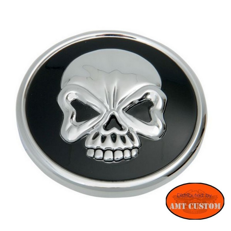 Skull Gas Cap chrome & Black Harley Motorcycles