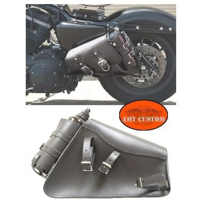 Sacoche pour Sportster Harley latérale