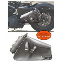 Sacoche Sportster latérale avec jerrican bouteille de carburant Harley Sportster XL833 & XL1200