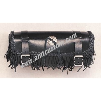Leather fringe tools bag motorcycle custom