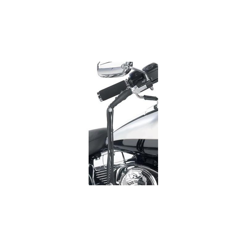 Couvres poignées et leviers cuir à franges moto trike