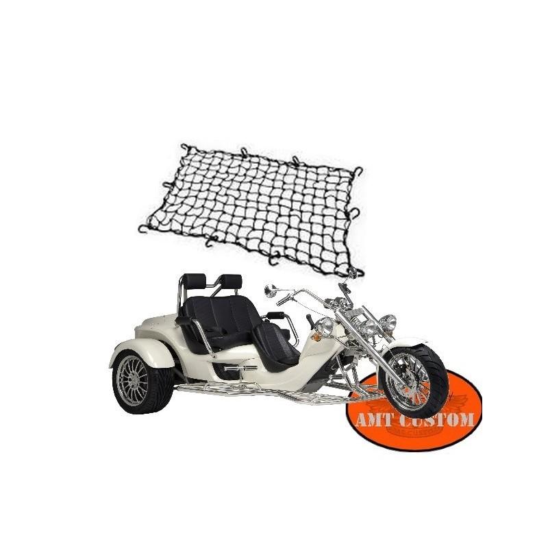 Filet Protection Trike universel grand modèle Trike, moto Trike - Boom, Rewaco, Harley Triglide, ....