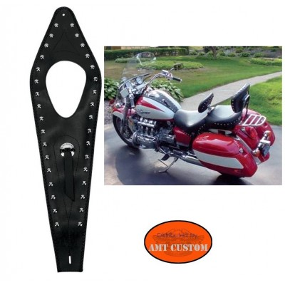 Honda GL1500 Walkyrie Leather studded and concho tank panel
