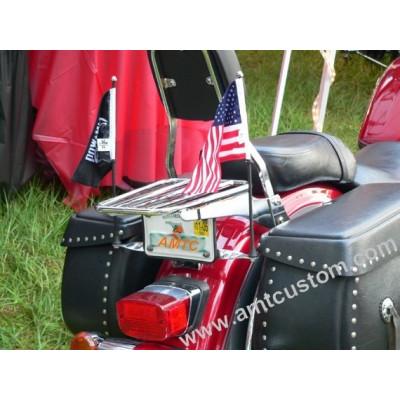 Mat et support Drapeau Noir ou Chrome moto trike