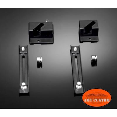kit rapide support sacoches Moto Custom - Montage et démontage rapide avec serrure à clés