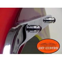 Seuls les écrous rainurés restent visbles sur votre Moto Custom - Montage et démontage rapide avec serrure à clés