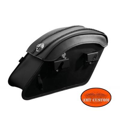 kit rapide support montés sur sacoches Moto Custom - Montage et démontage rapide avec serrure à clés