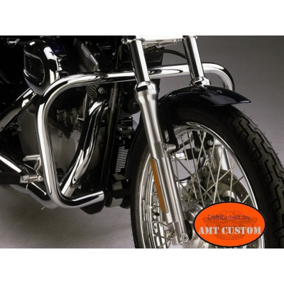 "Pare-cylindre pour Sportster Harley XL 883 et 1200 dont forty Eight - Pare jambes ""rectangle"""