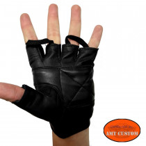 Eagle Leather fingerless gloves mitts H-D