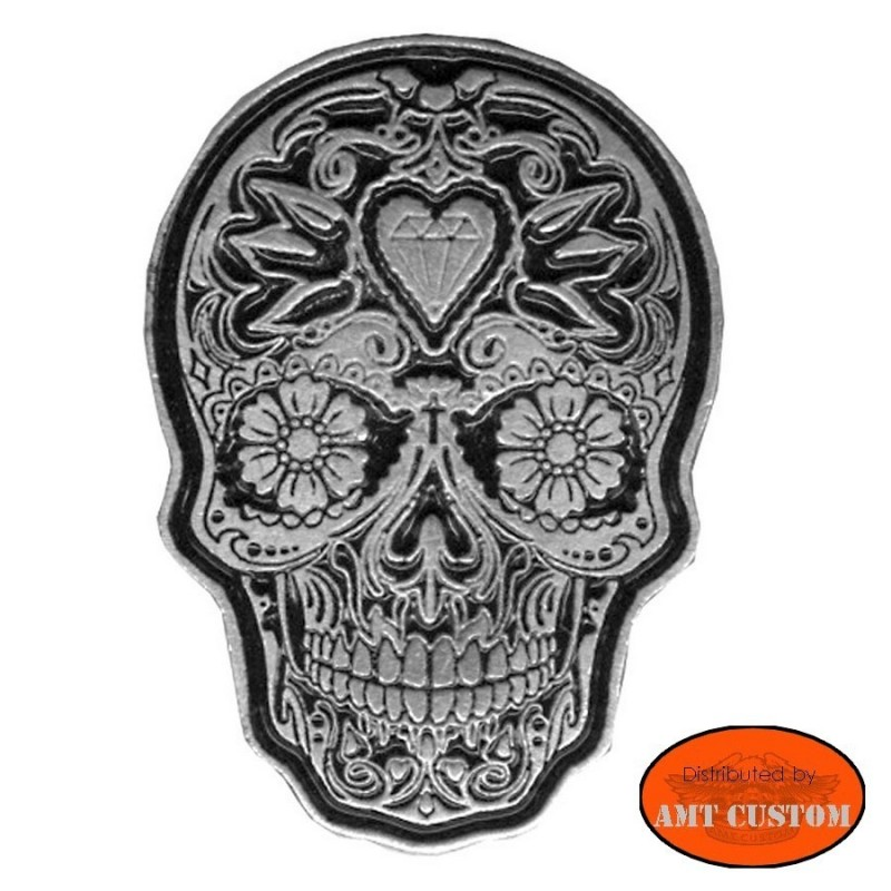 Badge skull mexican sugar biker custom kustom harley for vest jackets harley trike