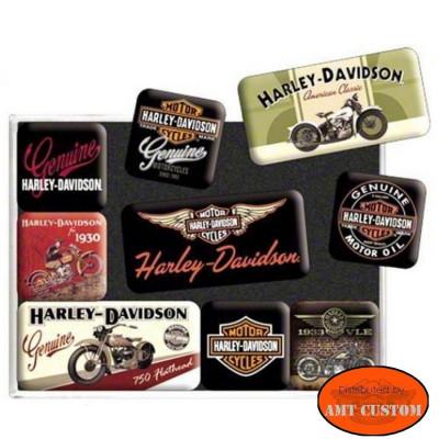 9 Magnets Harley Davidson - Aimant Harley