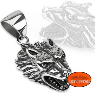 Biker wolf pendant harley harley chopper trike motorcycle