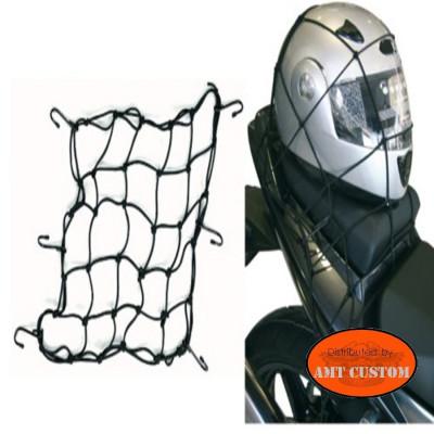 Bungee nets motorcycles helmets Harley